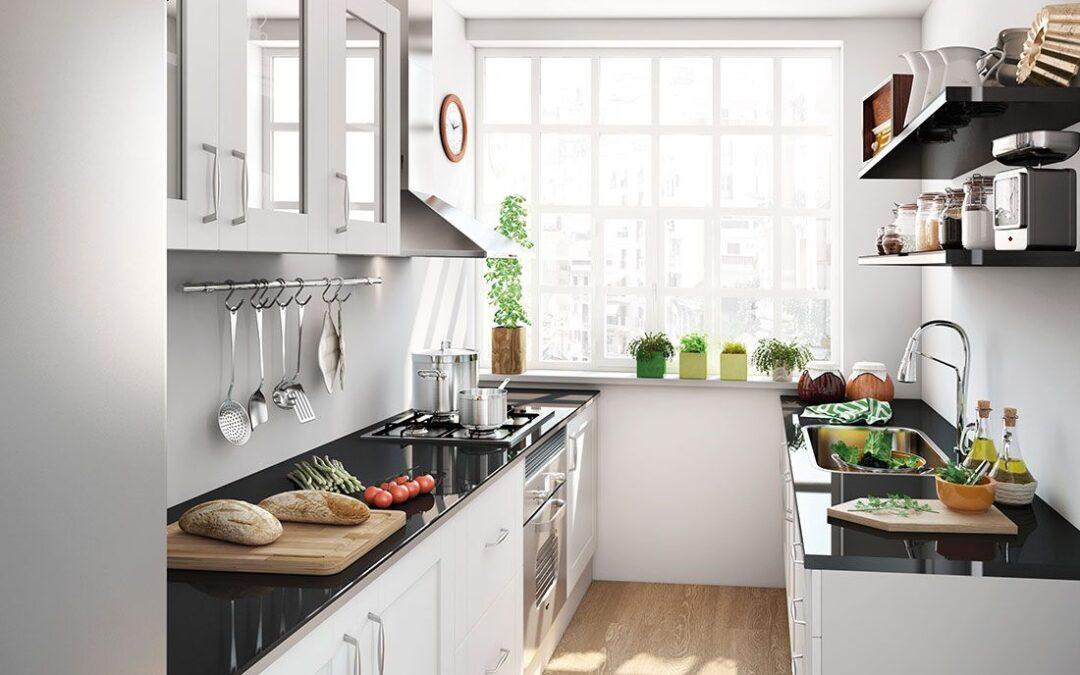 Cocinas para espacios amplios y pequeños